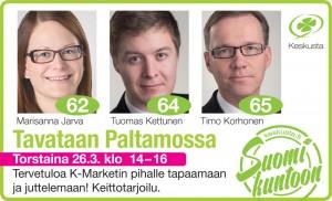 Keskusta KAI vaalitilaisuus Paltamossa 26032015 Väylä 99x60mm.